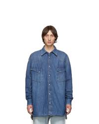 Maison Margiela Blue Denim Oversized Shirt