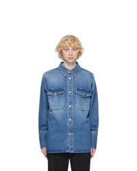 Loewe Blue Denim Patch Pocket Shirt