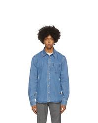 AMI Alexandre Mattiussi Blue Denim Shirt