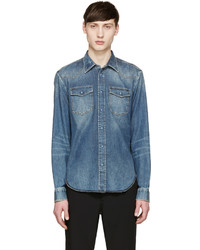 9f6eae54c38 Men s Blue Denim Shirts from SSENSE