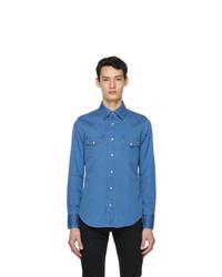 Tom Ford Blue Denim Western Leisure Shirt