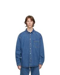 Vetements Blue Washed Denim Shirt