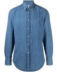 Brunello Cucinelli Button Down Collar Denim Shirt
