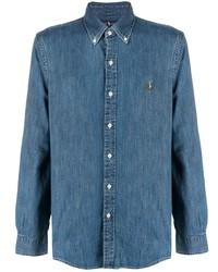 Polo Ralph Lauren Button Down Logo Denim Shirt