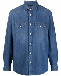 Z Zegna Button Up Denim Shirt
