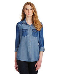 C&C California C C California Two Tone Denim Shirt