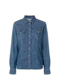 Eleventy Chest Pocket Denim Shirt