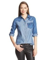 Levi's Color Block Chambray Annie Denim Shirt