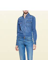 Gucci Denim Button Down Shirt