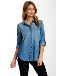 Sandra Ingrish Denim Button Front Shirt