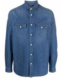 Z Zegna Denim Button Up Shirt