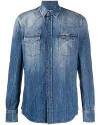 Dolce & Gabbana Denim Long Sleeve Shirt