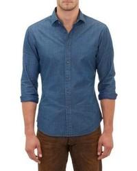 Ralph Lauren Black Label Denim Shirt Blue