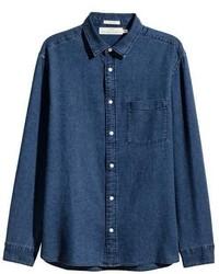 H&M Denim Shirt Regular Fit