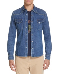 Remi Relief Denim Shirt With Bead Detail