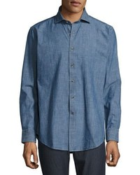Peter Millar Denim Sport Shirt Vintage Blue