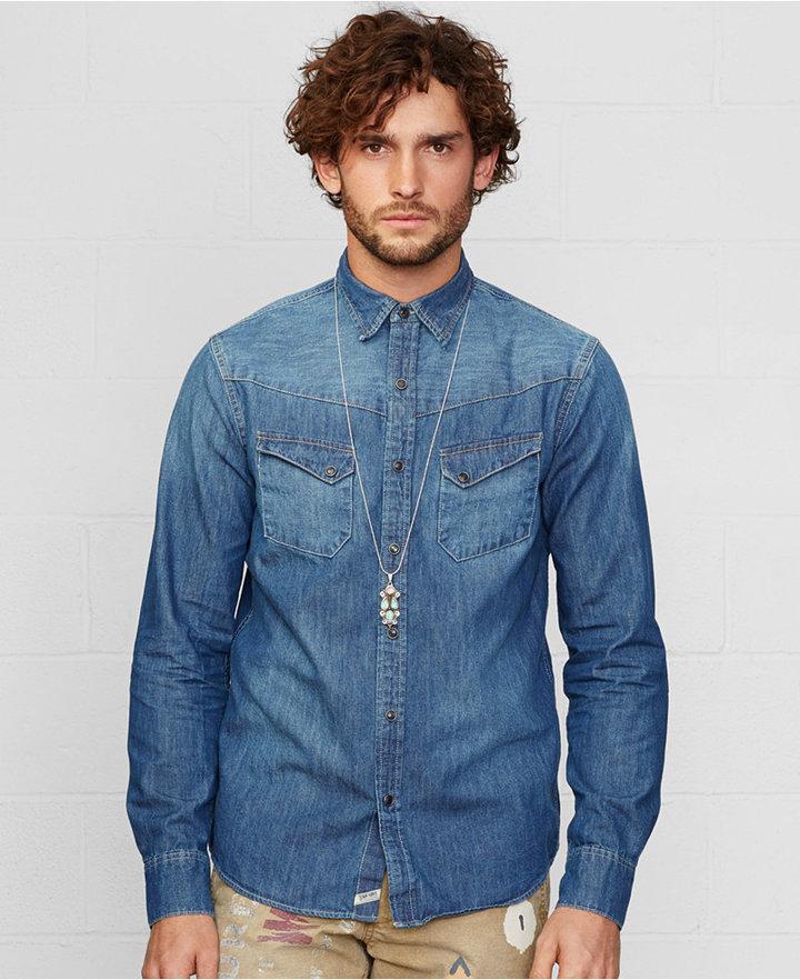 ... Blue Denim Shirts Denim \u0026amp; Supply Ralph Lauren Western Denim Shirt ...