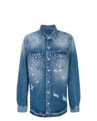 Marcelo Burlon County of Milan Denim Wing Detail Shirt