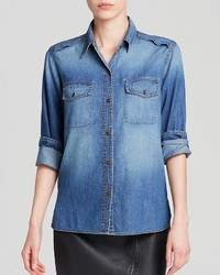 Bloomingdale's Dylan Gray Chambray Button Down Shirt