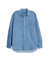 Beams Easy Denim Button Up Shirt