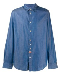 Paul Smith Embroidered Stripe Denim Shirt