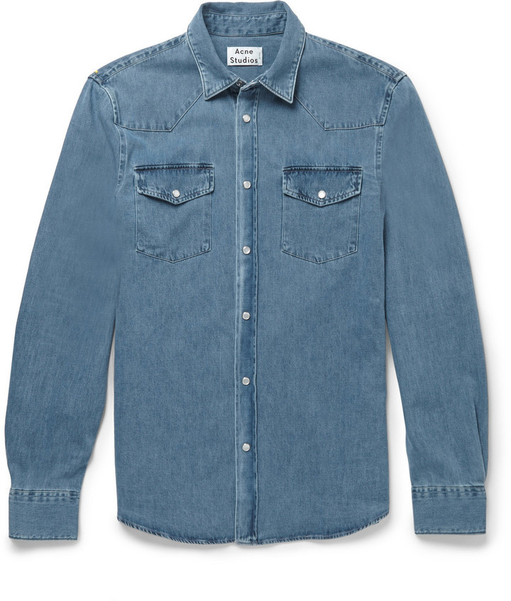 810d436917 $250, Acne Studios Ewing Washed Denim Shirt