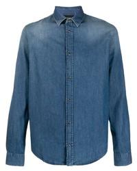 Emporio Armani Faded Denim Shirt