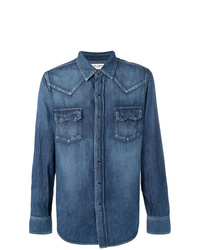 Saint Laurent Faded Denim Shirt