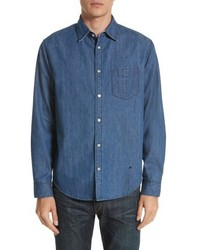 Fit 3 woven denim shirt medium 5277624