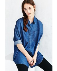 Unif For Uo Denim Button Down Shirt