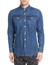 G star raw 3301 denim western shirt medium 3652404