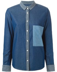 Golden Goose Deluxe Brand Chest Pocket Denim Shirt