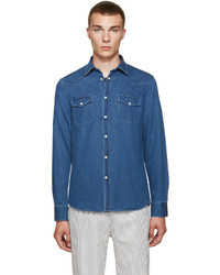 Acne Studios Indigo Denim Ewing Shirt