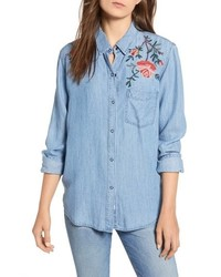 Ingrid embroidered chambray shirt medium 8760238