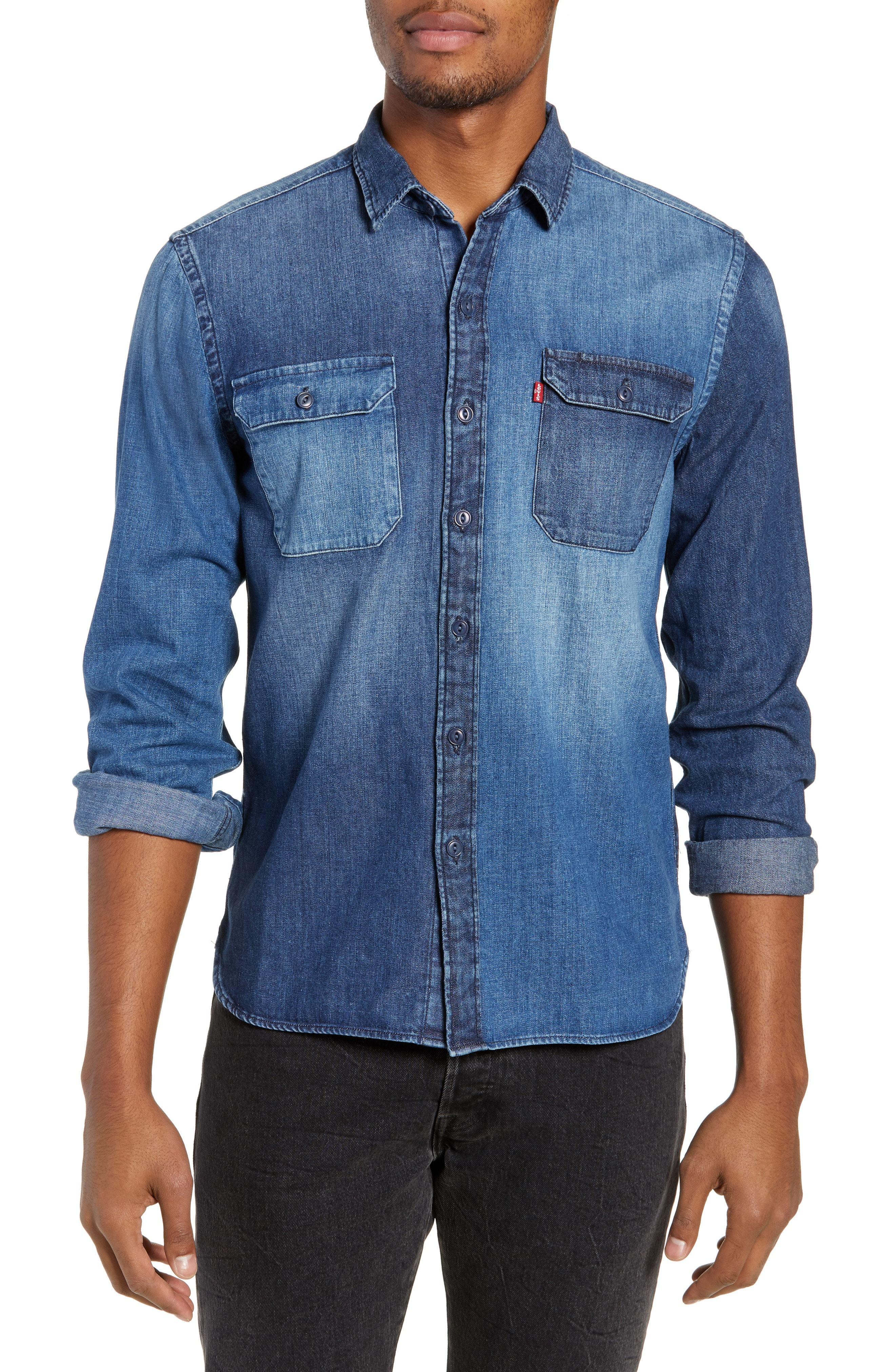 Levi's Jackson Pieced Denim Shirt
