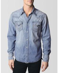True Religion Jake Originals Western Denim Shirt