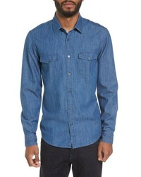 BOSS Lance Regular Fit Two Pocket Denim Sport Shirt