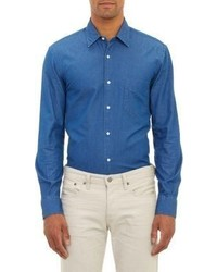 Aspesi Lightweight Denim Shirt Blue