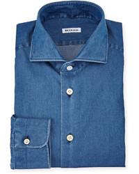 Long sleeve denim dress shirt medium 594625