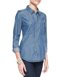 Eileen Fisher Long Sleeve Denim Shirt