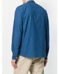 Aspesi Mandarin Collar Denim Shirt