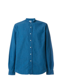 Aspesi Mandarin Collar Denim Shirt