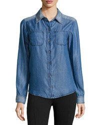 Michael Stars Michl Stars Denim Button Down Shirt Denim
