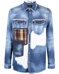 DSQUARED2 Multi Pocket Distressed Denim Shirt
