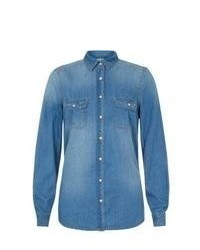 New Look Blue Denim Shirt