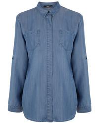 Oasis Tori Soft Dark Denim Shirt
