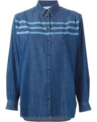 Paul By Paul Smith Striped Denim Shirt