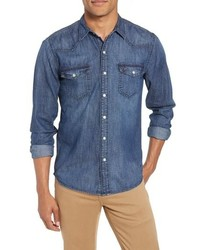 Frame Pc Slim Fit Denim Western Shirt