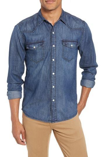 Frame Pc Slim Fit Denim Western Shirt