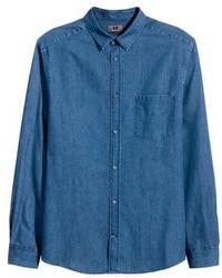 H&M Premium Cotton Denim Shirt